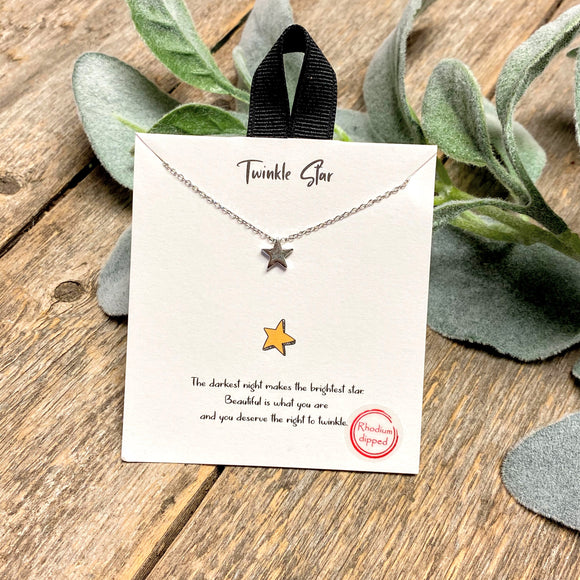 Twinkle Star | Inspirational Necklace