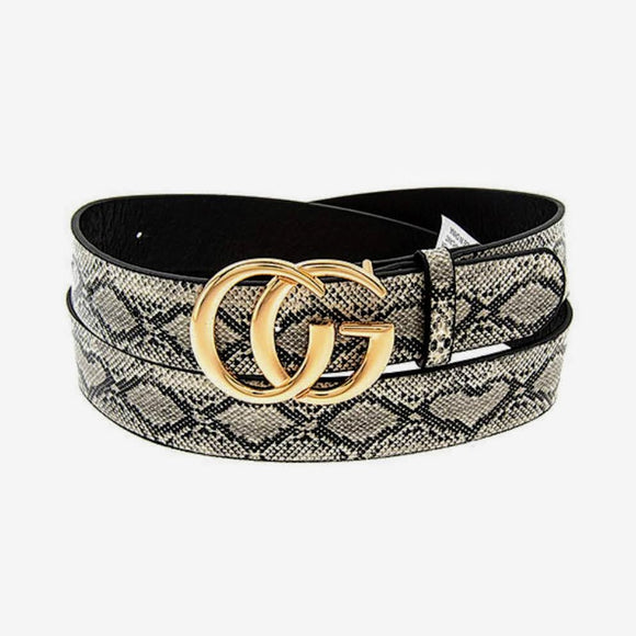 Snake Belt | Black+White