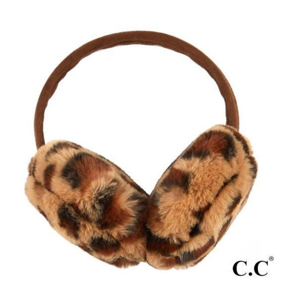 C.C Fur Ear Muffs | Leopard