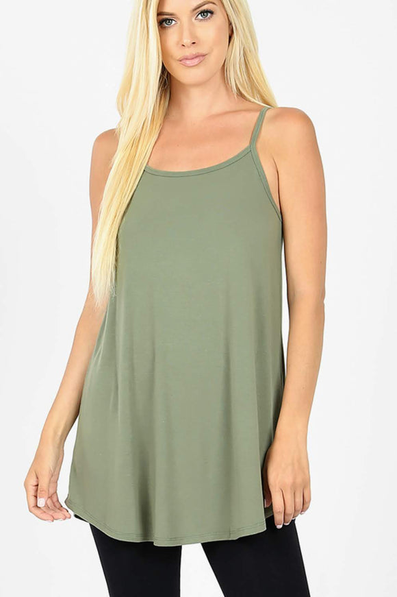 Flowy Cami | Reversible | Light Olive