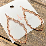 Crystal Filigree Earrings | Rose Gold