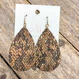 Snake Cork Earrings | Brown