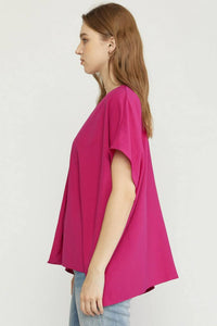 Rolled Sleeve Blouse | Olive