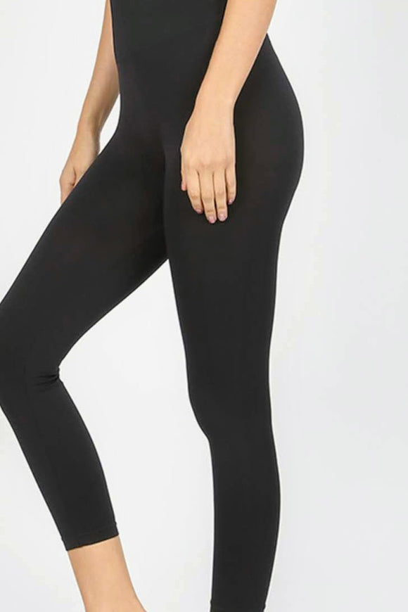 Capri Leggings | High Waist | Black