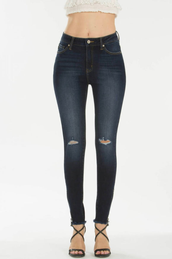 KanCan High Rise Size Zipper Detail Skinny Jean