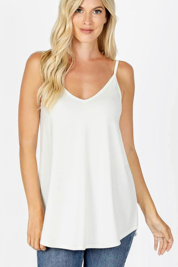 Flowy Cami | Reversible | Ivory