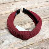 Knotted Headband | Burgundy