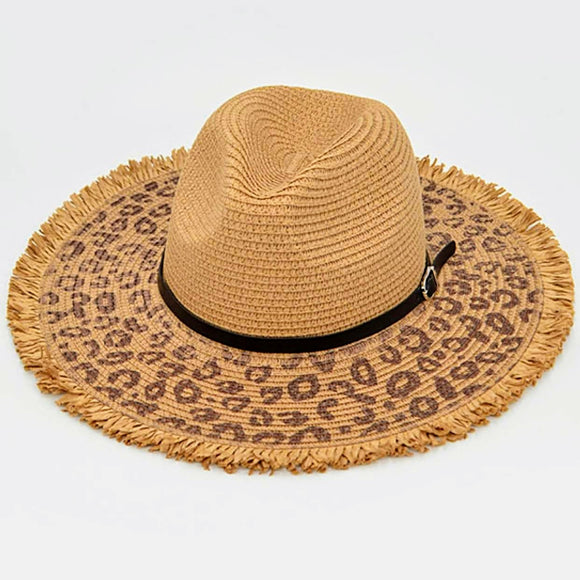 Leopard Sun Hat | Brown