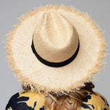Raw Edge Panama Sun Hat