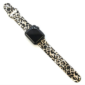 Silicone Watch Band | Oatmeal Leopard