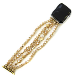 38/40MM Beaded Watch Band | Champagne+Gold