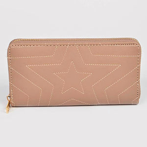 Beige Star Wallet