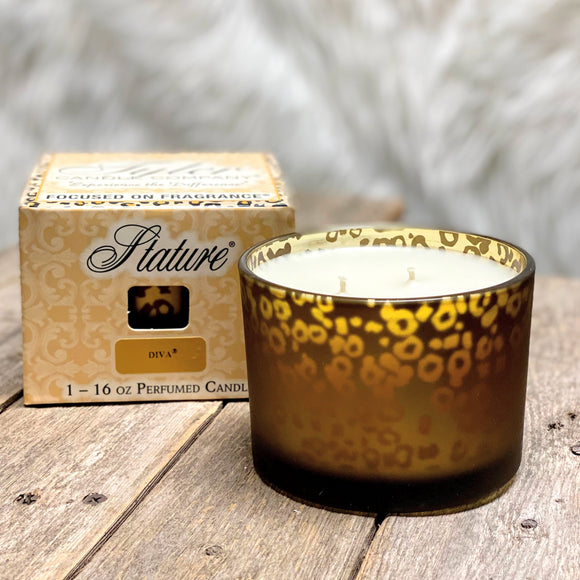 Diva | Leopard Stature Collection Candle | 16 oz. 2-Wick