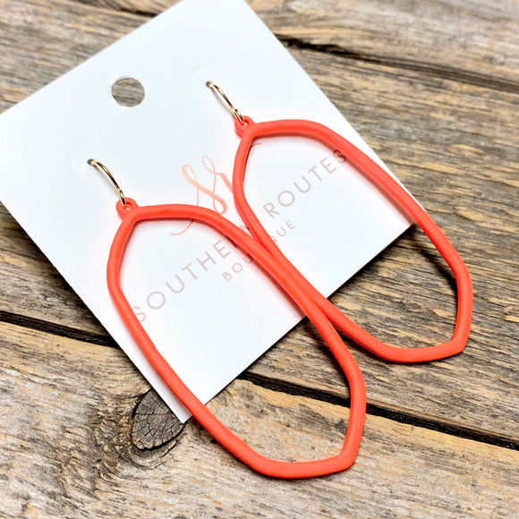 Modern Neon Earrings | Orange