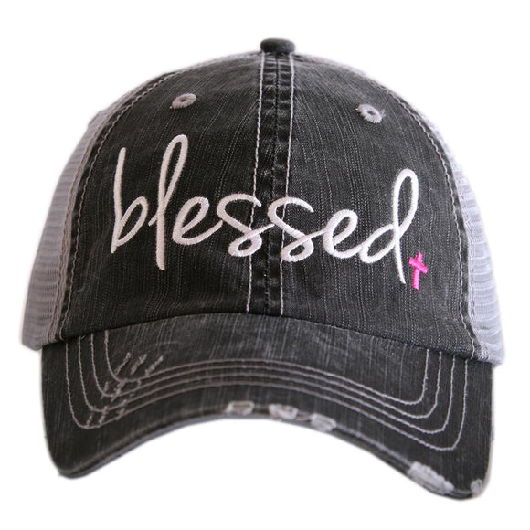 Blessed | Hot Pink Cross Cap
