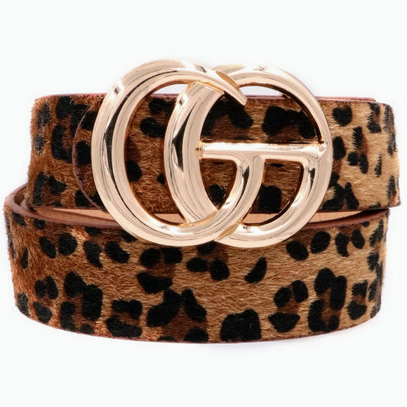 G Belt | Dark Leopard Hide