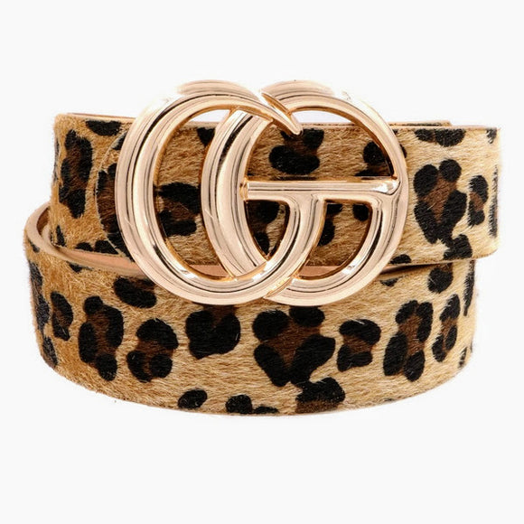 G Belt | Leopard Hide