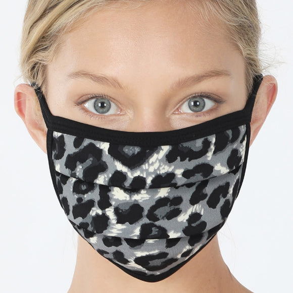 Cotton Mask | Grey Leopard