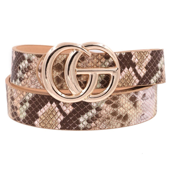 G Belt | Brown Snake