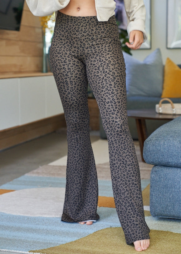 Bell Bottoms | Olive Leopard