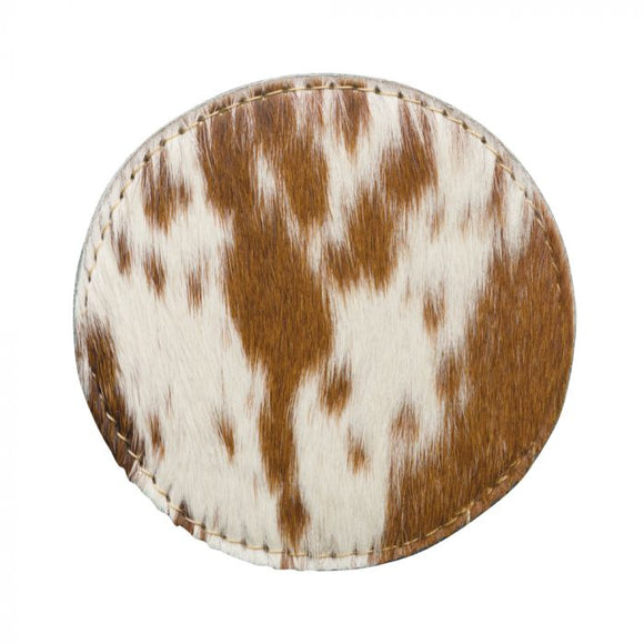 Hide Coaster Set | Light Brown Cow