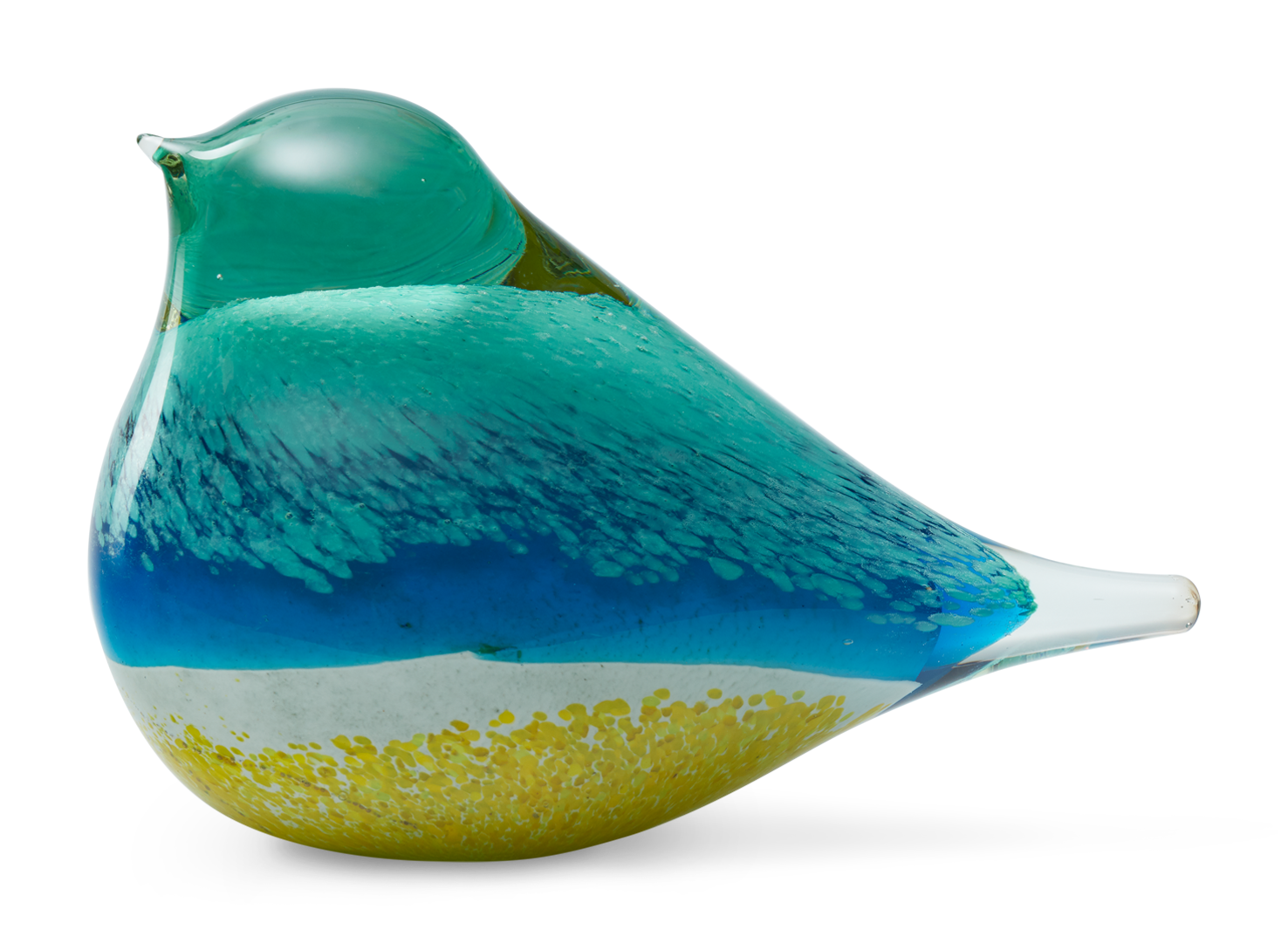 ATLAS GLASS BIRD | BLUE & YELLOW