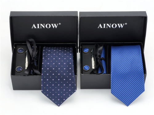 Cravate de marque AINOW en coffret de 9 versions !