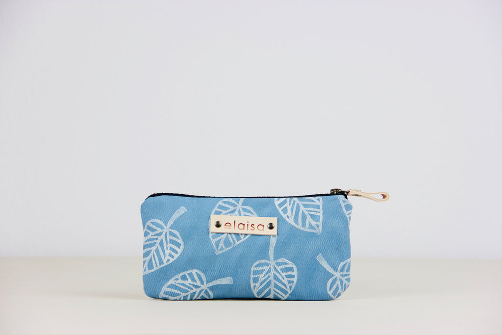 BELE: Printed Pouches - ocean//white