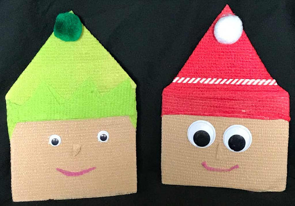 Christmas elves made out of WildCow vet wrap