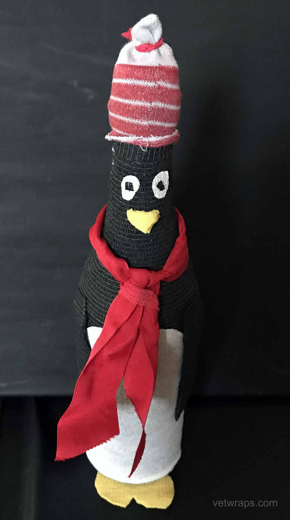 Penguin Made From Italian Soda Bottle and WildCow Vet Wrap