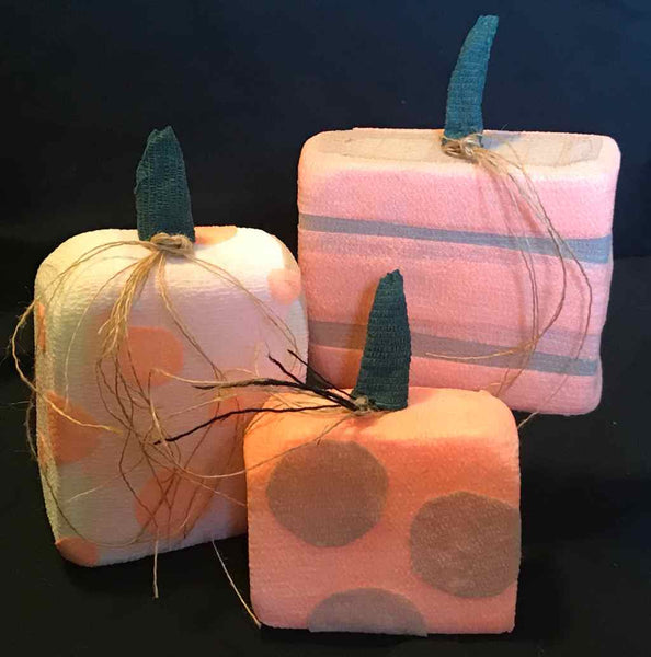 Pumpkin Trio craft made from vet wrap