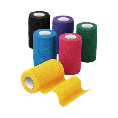 3M Vetrap 4 Inch Color Pack - 1410 Pack (Red, Blue, Gold, Hunter Green, Purple, Black Rolls)