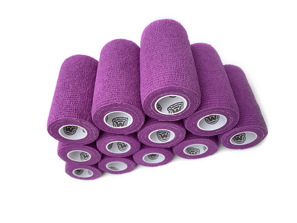WildCow 4 Inch Purple Vet Wrap 12 Pack of Rolls