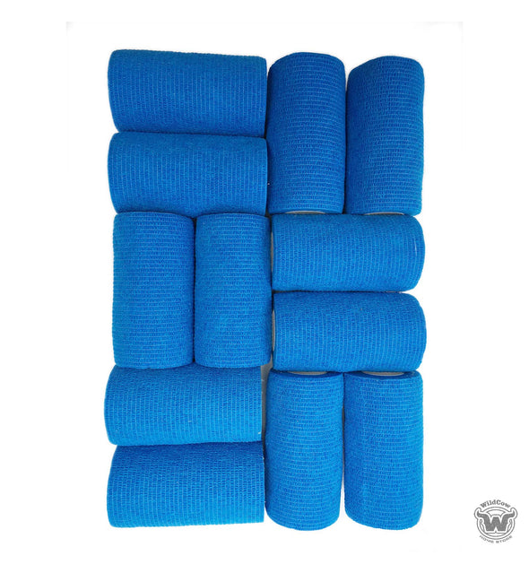 "WildCow Blue 4"" Vet Wrap 12 Pack"