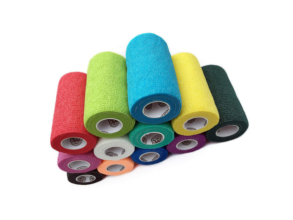 WildCow Multicolored Vet Wrap - 12 Pack, 4 Inches X 5 Yards (Stretched)