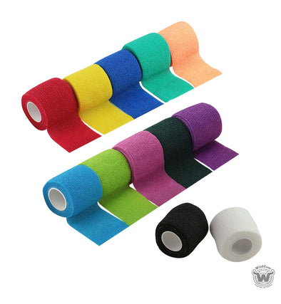 WildCow Multicolored Vet Wrap - 12 Pack, 2 Inches X 5 Yards (Stretched)