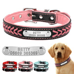 Leather Personalized Pet Name ID Collar
