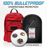 "9""X12"" Round Top Ballistic Shield Backpack Insert IIIA"