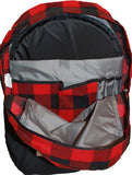 "Genuine Eddie Bauer Ashford Daypack with 11""x14"" Bulletproof Insert-2 Colors: Red Plaid and Gray"