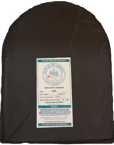 "12"" X 16"" Ballistic Shield Backpack Insert IIIA"