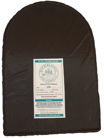 "12"" X 18"" Ballistic Shield Backpack Insert IIIA"