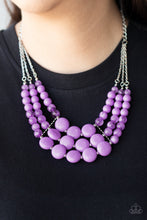 Load image into Gallery viewer, Flirtatiously Fruity - Purple Necklace 1017n