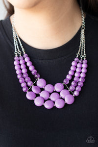 Flirtatiously Fruity - Purple Necklace 1017n