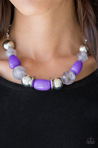 South Shore Sensation - Purple Necklace 1201N