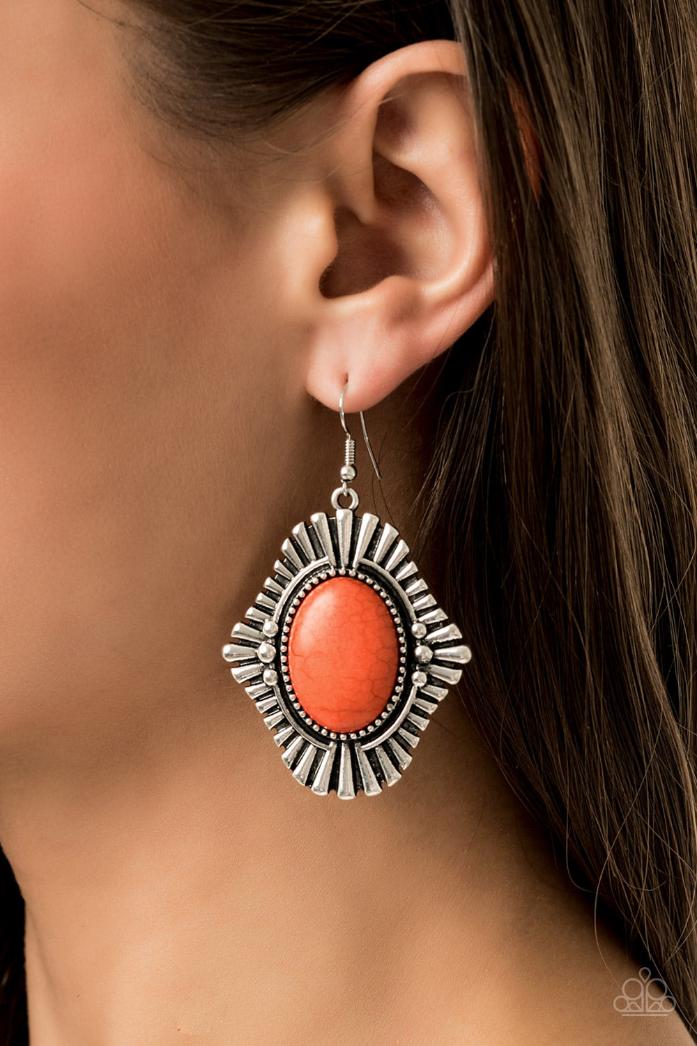 Easy As Pioneer - Orange Earring 2640E