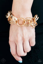 Load image into Gallery viewer, Statement Shimmer - Gold Bracelet