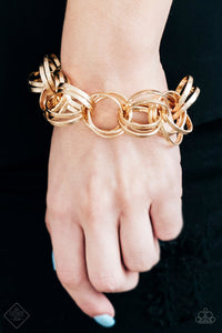 Statement Shimmer - Gold Bracelet