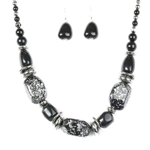 In Good Glazes -  Black Blockbuster Necklace 1278N