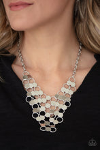 Load image into Gallery viewer, Net Result & Cast a Wider Net - Silver Necklace & Bracelet Set 1014s