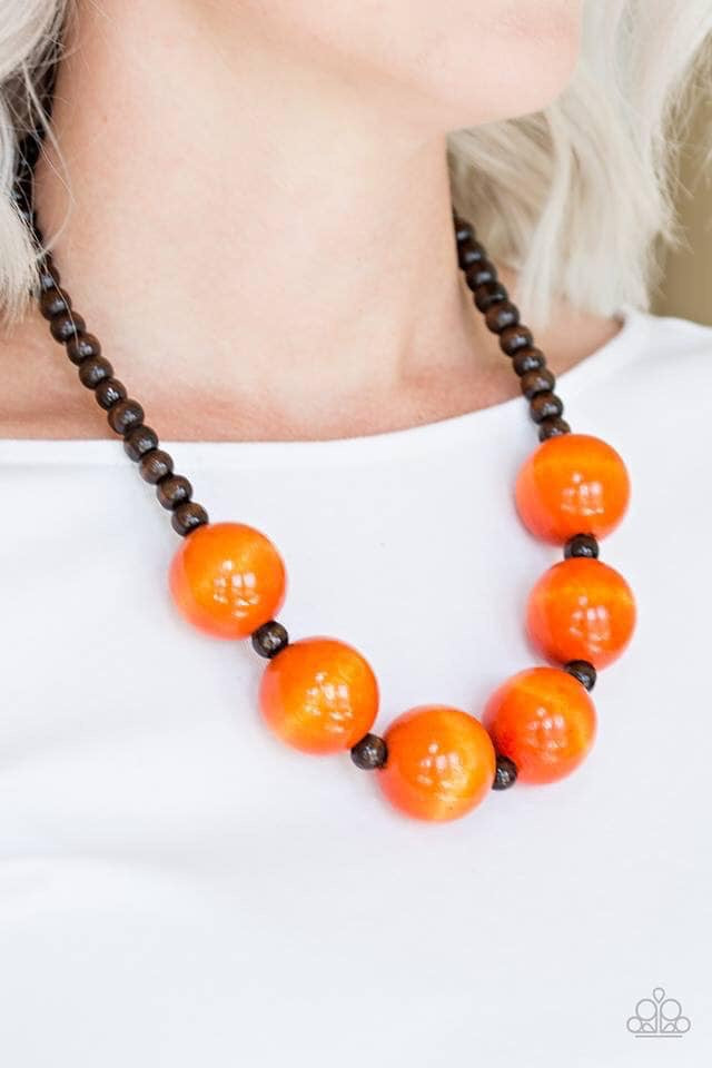 Oh My Miami - Orange Necklace 1199B